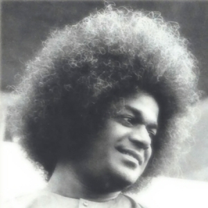 Gold Old Image Of Sri Sathya Sai Baba