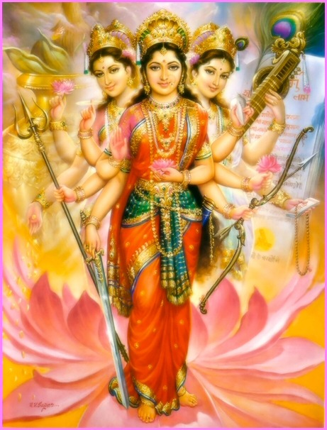 Hindu Calendar Art : Bharati maiya sri sathya sai baba