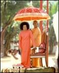 Sathya Sai Baba With Swami Karunyananda