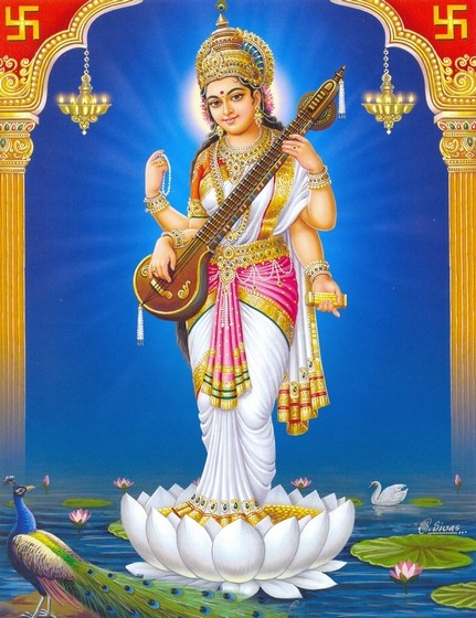 Saraswati hindu goddess of learning saraswati devi