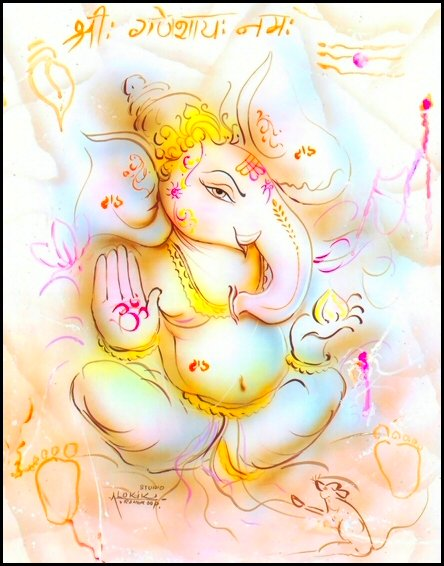 Gods Red Pictures Lord Ganesha