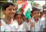 Children Celebrate India Independence Day