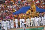 Sathya Sai Baba On Golden Throne - 83rd Birthday Celebrations