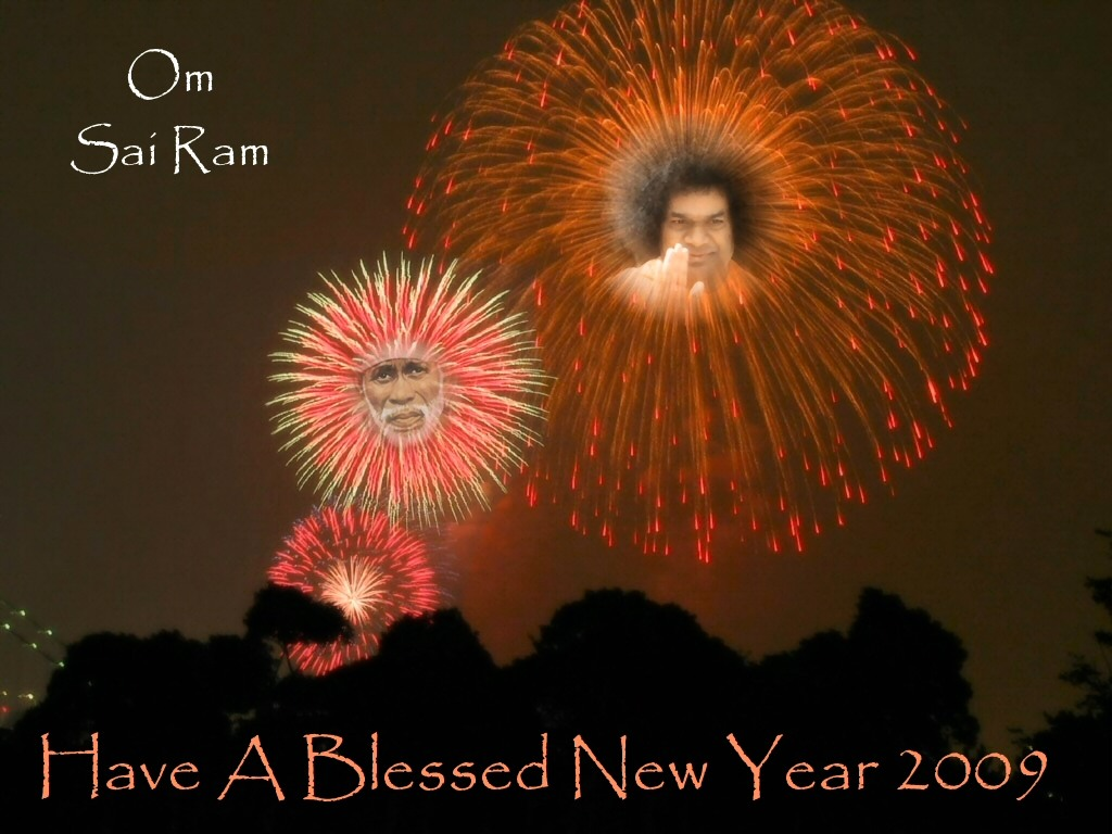 New year quotes sathya sai baba life love spirituality om sai ram blessed new year 2009 kristyandbryce Image collections