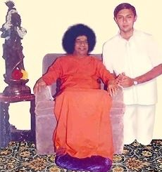 Sathya Sai Baba With Venkatesh Prasad