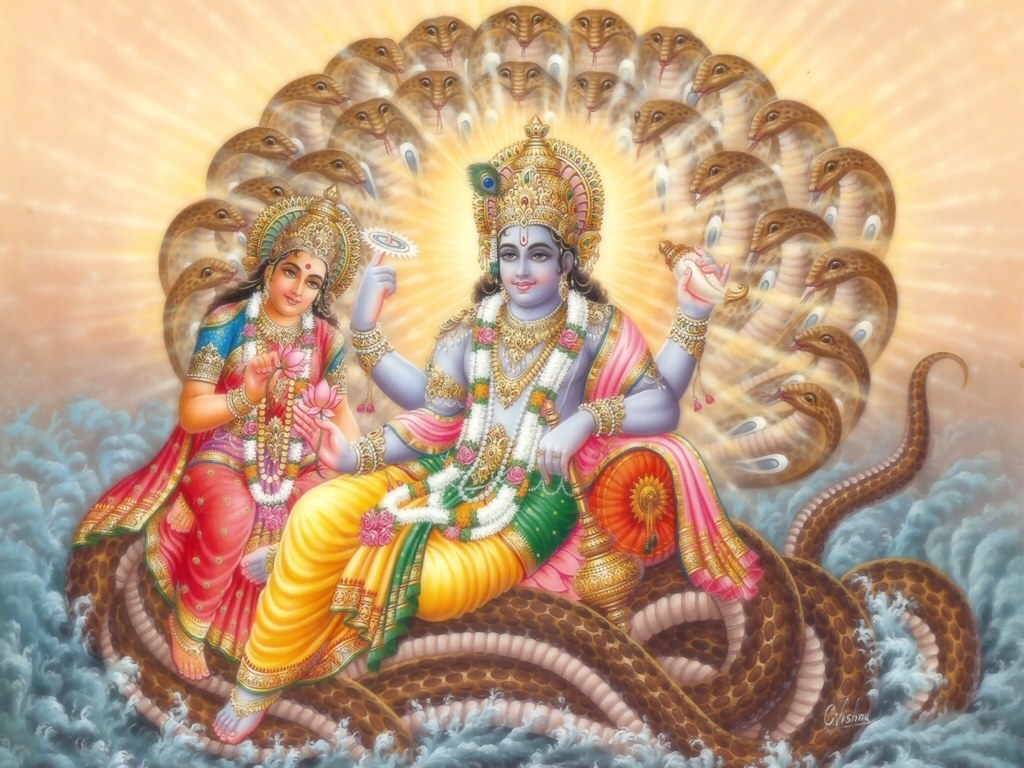 Lord Vishnu with Lakkshmi