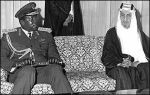Idi Amin With King Faisal Of Saudi Arabia