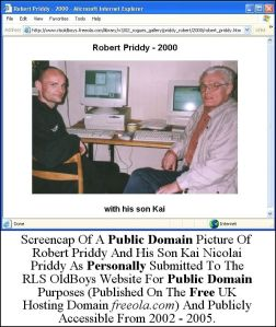 Public Domain Picture Of Robert Priddy With Son Kai Nicolai Priddy. See Copyright Note At The bottom Of This Article.