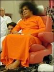 Satya SaiBaba In A Wheelchair