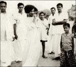 Old Gold Image Of Sathya Sai Baba
