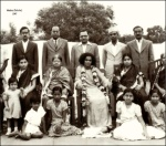 Old Gold Photo Of Sathya Sai Baba
