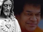 Sathya Sai And Jesus Christ Background