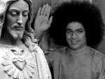 Sathya Sai Baba Jesus Pictures Background