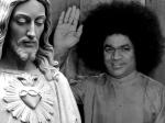 Sathya Sai Baba Jesus Pictures Background